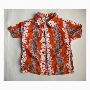 Used Gymboree Boys Floral Button Down - Size 3